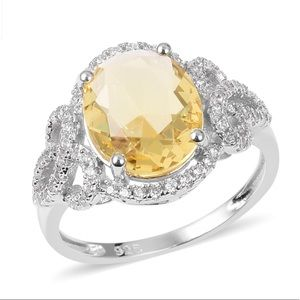 Jewelry - Yellow and white CZ SS ring